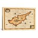 <strong>iCanvasArt</strong> Antique Map of Cyprus (1653) by Joan Janssonius Graphic Art on Canvas in Beige