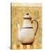 <strong>iCanvasArt</strong> Decorative Art 'White Teapod' by Pablo Esteban Painting Print on Canvas