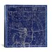 <strong>iCanvasArt</strong> Celestial Atlas - Plate 20 (Sagittarius) by Alexander Jamieson Graphic Art on Canvas in Negative