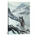 <strong>iCanvasArt</strong> Decorative Art Winter Crossing - Wolf by Ron Parker Photographic Print on Canvas