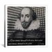 <strong>iCanvasArt</strong> William Shakespeare Quote Canvas Wall Art