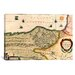 iCanvasArt Antique Map of Biscaya (1640) by G and J Blaeu Graphic Art on Canvas in Beige