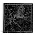 <strong>iCanvasArt</strong> Celestial Atlas - Plate 17 (Leo) by Alexander Jamieson Graphic Art on Canvas in Black