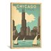 <strong>iCanvasArt</strong> 'The Windy City - Chicago, Illinois' by Anderson Design Vintage Advertisement on Canvas