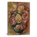<strong>iCanvasArt</strong> 'Vase De Roses' by Pierre-Auguste Renoir Painting Print on Canvas