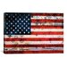 iCanvasArt Flags U.S.A. Grunge Metal Graphic Art on Canvas