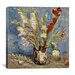 """<strong>""""Vase with Gladioli and China Asters, 1886"""" Canvas Wall Art by Vinc...</strong> by iCanvasArt"""
