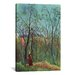 <strong>iCanvasArt</strong> 'The Walk in the Forest (Am Waldrand) 1886' by Henri Rousseau Painting Print on Canvas