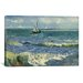 <strong>iCanvasArt</strong> 'Seascape Near Les Saintes Maries De La Mer' by Vincent Van Gogh Painting Print on Canvas