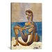 <strong>iCanvasArt</strong> 'Seated Bather' by Pablo Picasso Painting Print on Canvas