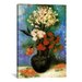 <strong>iCanvasArt</strong> 'Vase of Carnations and Other Flowers' by Vincent Van Gogh Painting Print on Canvas