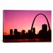 <strong>iCanvasArt</strong> Panoramic Missouri, St. Louis, Sunset Photographic Print on Canvas