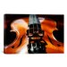 <strong>iCanvasArt</strong> Photography Violin Graphic Art on Canvas