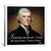 iCanvasArt Thomas Jefferson Quote Canvas Wall Art