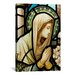 <strong>iCanvasArt</strong> Christian Virgin Marry Stained Glass Painting Print on Canvas