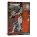 <strong>iCanvasArt</strong> Japanese Art 'Station #19 of Kisokaido Road' by Kuniyoshi Painting Print on Canvas