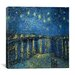 "<strong>iCanvasArt</strong> ""Starry Night over the Rhone"" Canvas Wall Art by Vincent Van Gogh"