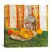 """<strong>""""Still Life with Bottle and Lemons on a Plate"""" Canvas Wall Art by V...</strong> by iCanvasArt"""