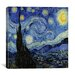 "<strong>iCanvasArt</strong> ""The Starry Night"" Canvas Wall Art by Vincent Van Gogh"