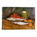 <strong>iCanvasArt</strong> 'Still Life with Mackerel, Lemon, and Tomato' by Vincent Van Gogh Painting Print on Canvas