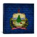 <strong>iCanvasArt</strong> Flags Vermont Bricks Graphic Art on Canvas