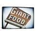 <strong>iCanvasArt</strong> 'Vintage Giant Food Sign' by Steve Snodgrass Photographic Print on Canvas