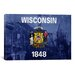 <strong>Wisconsin Flag, Wisconsin State Capitol with Lomo Film Grunge Graph...</strong> by iCanvasArt