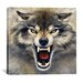 "<strong>iCanvasArt</strong> ""Wolf"" Canvas Wall Art by Harro Maass"