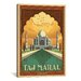 <strong>iCanvasArt</strong> Taj Mahal - India by Anderson Design Group Vintage Advertisment on Canvas