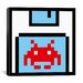 <strong>Space Invader - Floppy Invader Pixel Art (Red and White) Canvas Wal...</strong> by iCanvasArt