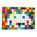 <strong>iCanvasArt</strong> Space Invaders Rainbow Cube Art Graphic Art on Canvas