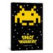 <strong>iCanvasArt</strong> Space Invaders Insert Coin Graphic Art on Canvas