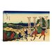 iCanvasArt 'Senju, Musashi Province (Bushu Senju)' by Katsushika Hokusai Painting Print on Canvas