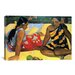 <strong>iCanvasArt</strong> 'Two Women Sitting' by Paul Gauguin Painting Print on Canvas