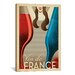 <strong>'Vin De France' by Anderson Design Group Vintage Advertisement on C...</strong> by iCanvasArt