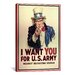 <strong>Uncle Sam: I Want You! Vintage Advertisement on Canvas</strong> by iCanvasArt
