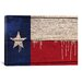 <strong>iCanvasArt</strong> Flags Texas Wood Planks with Paint Drips Graphic Art on Canvas