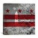 iCanvasArt Flags Washington D.C, Washington Monument with Grunge Graphic Art on Canvas