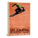 <strong>Ski Jumping (Milwaukee - Racine) Vintage Advertisement on Canvas</strong> by iCanvasArt