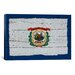 iCanvasArt Flags West Virginia with Wood Planks Graphic Art on Canvas