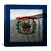 iCanvasArt Flags West Virginia New River Gorge Bridge with Grunge Graphic Art on Canvas