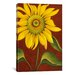 "<strong>iCanvasArt</strong> ""Sunflower"" Canvas Wall Art by John Zaccheo"