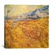 <strong>iCanvasArt</strong> 'Wheat Field Behind Saint-Paul Hospital (the Harvest)' by Vincent Van Gogh Painting Print on Canvas