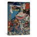 <strong>iCanvasArt</strong> 'Takazaki Station' by Kuniyoshi Painting Print on Canvas