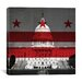 iCanvasArt Flags Washington, D.C Capitol Building with Grunge Graphic Art on Canvas