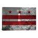 iCanvasArt Flags Washington, D.C Washington Monument Graphic Art on Canvas