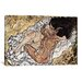 iCanvasArt The Embrace (The Loving) Canvas Print Wall Art