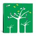 <strong>Autumn Trees Graphic Art on Canvas in Green</strong> by iCanvasArt