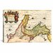 <strong>iCanvasArt</strong> Antique Map of Italy (1649) by Joan Janssonius Graphic Art on Canvas in Beige