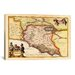 <strong>iCanvasArt</strong> 'Antique Map of Lazio (Latium) (1949-1960)' by Joan Janssonius Graphic Art on Canvas